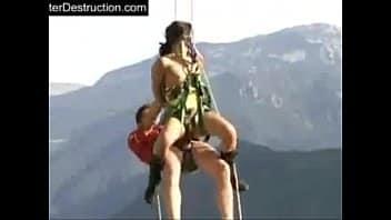 Cojí con mi novia en las alturas haciendo rapel!